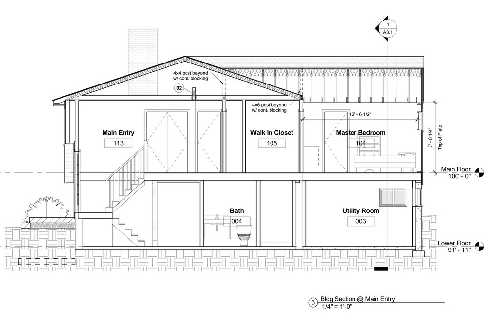 Elevation Plan And Cross Section : The key drawing types for residential construction