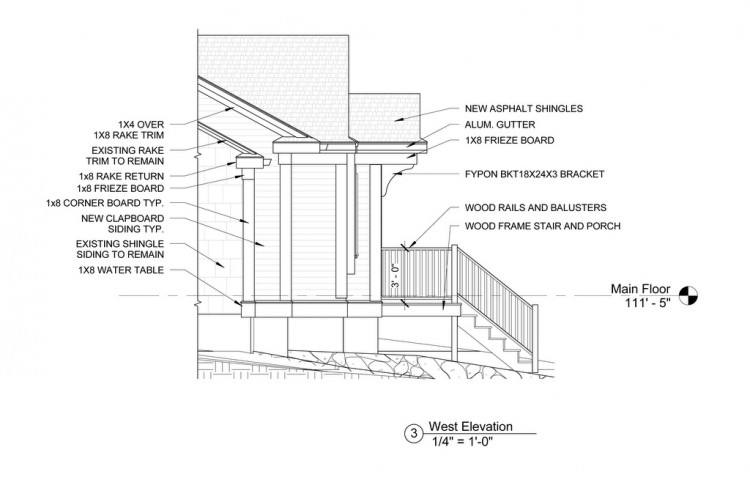 exterior residential detail drawing